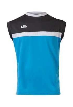 Lig Abant Antreman Kolsuz T-Shirt Turkuaz-Antrasit