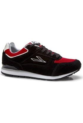 Lig 15-01-30 Spor Ayakkabı Siyah-Kırmızı