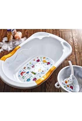Hiper 5 Parça Bebek Banyo Seti Düz Pembe