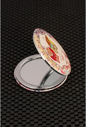 Morvizyon Çift Baykuş Figürlü Renkli Desenli Cep Aynası Ayn106