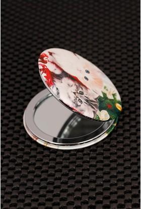 Morvizyon Kedi Figürlü Cep Aynası Ayn149