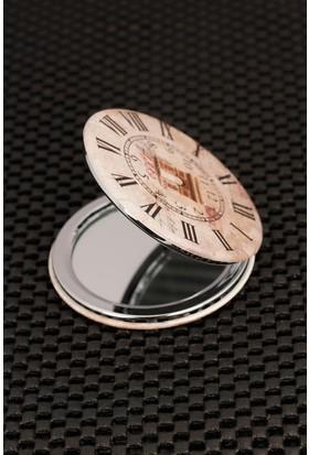 Morvizyon Roma Rakam Saat Tasarımlı Cep Aynası Ayn129