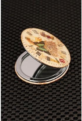 Morvizyon Roma Rakam Saat Tasarımlı Cep Aynası Ayn134