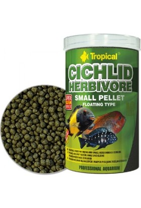 Tropical Cichlid Herbivore Small Pellet 1000Ml 360Gr