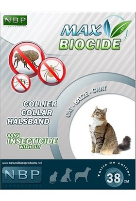 Max Biocide Kediler İçin Bitkisel İçerikli Pire Tasması 35 Cm