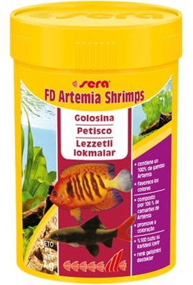 Sera Fd Shrimp Artemia 100 Ml