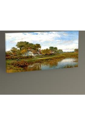 Tablo 360 Göl Manzaralı Ev Tablo 80x40