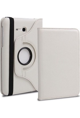 Miray Samsung Galaxy Tab 3 Lite T110 7'' 360° Dönebilen Stand Beyaz Tablet Kılıfı