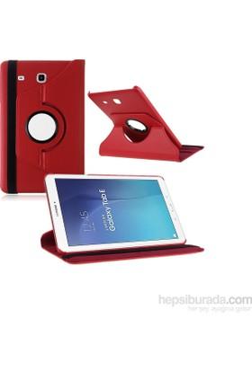 Miray Samsung Galaxy Tab 3 Lite T113 Kılıf Standlı Kasalı - Kırmızı