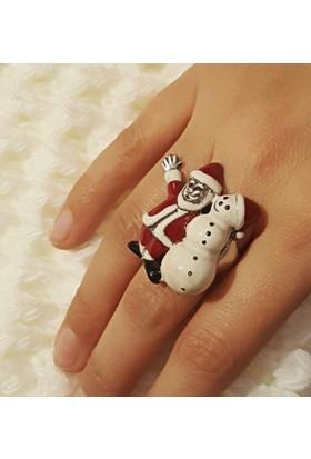 Tyelotakı, Gümüş El Yapımı, Mineli Noel Baba Yüzük
