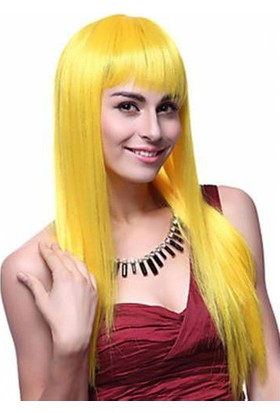 Sena Peruk Gerçekçi Peruk Sarı