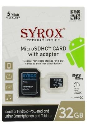 Syrox 32Gb Microsd Hafıza Kartı Class 10