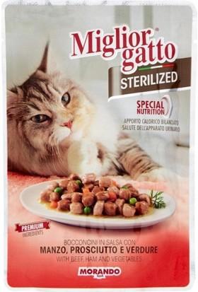 Miglior Gatto Sterilized Biftek Ve Jambonlu Kısır Kedi Konservesi 85 Gr
