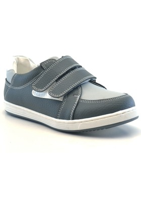 Raker Cırtlı Gri Erkek Çocuk Spor Ayakkabısı