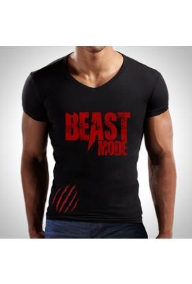 Sportono Beast Mode Fitness Spor T-Shirt