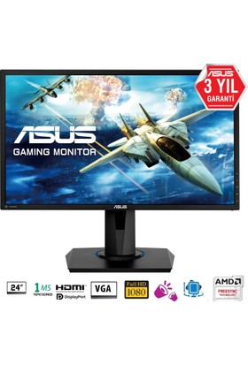 "Asus VG245Q 24"" 1ms 75Hz (2xHDMI+D-SUB+Display) FreeSync LED Oyuncu Monitör"
