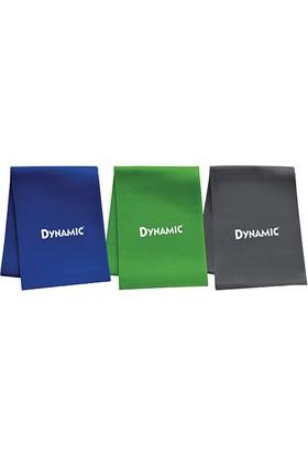 Dynamic 3'lü (Yüksek-Orta-Düşük Direnç) Pilates Bant Seti