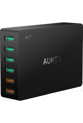 Aukey Usb Charger With Dual Quick Charge Qualcomm 3.0 Ports & 4 Usb Ports - PA-T11