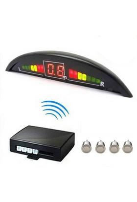 İnwells E2 Led Ekranlı Sesli Geri Park Sensörü Gri