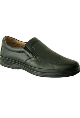 Komcero 6009 Ortopedik Deri Erkek Ayakkabı Siyah