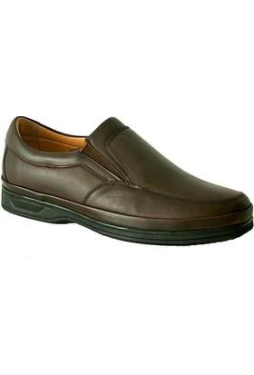 Komcero 6009 Ortopedik Deri Erkek Ayakkabı Kahverengi