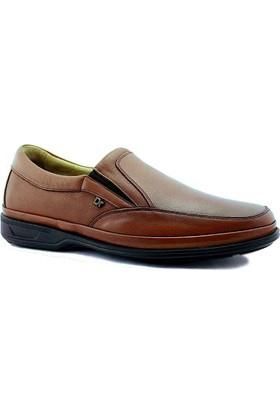 Komcero 6009 Ortopedik Deri Erkek Ayakkabı Taba