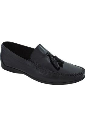 Mammamia D17Ya-7750 Deri Açma Püsküllü Ayakkabı Siyah