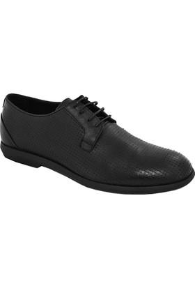 Komcero 6694 Erkek Deri Bağlı Ayakkabı Siyah