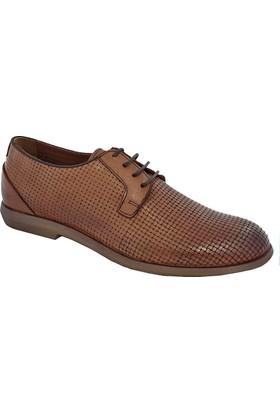 Komcero 6694 Erkek Deri Bağlı Ayakkabı Taba
