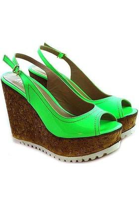 İloz 1901 Dolgu Topuk Kadın Ayakkabı Yesıl
