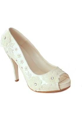 Ayakkabimcantam 152 Topuklu Kadın Ayakkabı Sedef