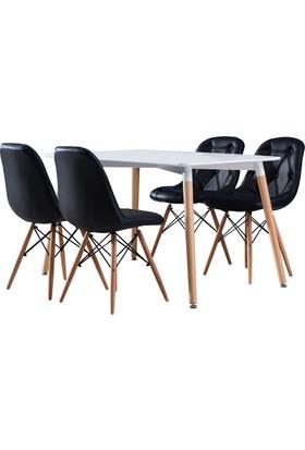 Hamdeko Masa Sandalye Takımı Siyah