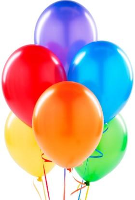 Kutlama Marketi Renkli Lateks Balon Xl 10 Adet