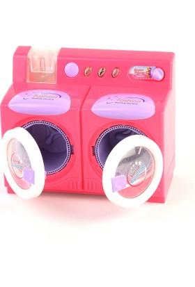 Kayyum Oyuncak Pilli Işıklı Ve Sesli Kız Oyuncak 2'Li Gerçekçi Çamaşır Makinesi