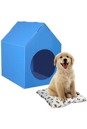 Weblonya Yavru Köpek Kulübesi Köpek Yatağı Minderli Yatak