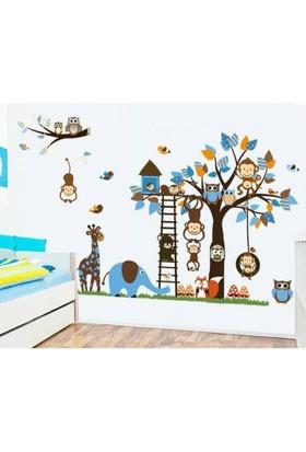 Zooyoo Çocuk Ve Bebek Odası Muhteşem Görsel Resim Sticker Anaokulu Kreş Büyük Boy Xl190 X100 Cm Sticker
