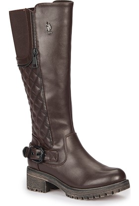 U.S. Polo Assn. Joselyn Kahverengi Kadın Çizme