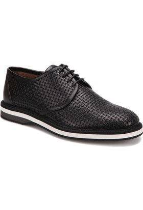 Morandi 1043 Siyah Erkek Deri Modern Ayakkabı