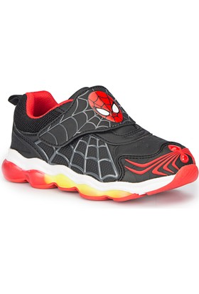 Spiderman Charm Siyah Erkek Çocuk Athletic Ayakkabı