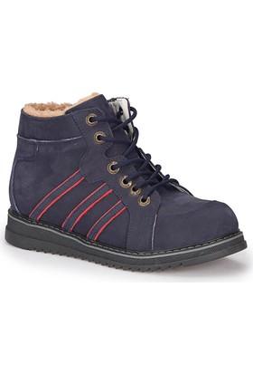 Polaris 72.509761.F Lacivert Erkek Çocuk Deri Sneaker Ayakkabı