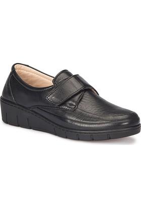 Polaris 5 Nokta 72.110003.Z Siyah Kadın Deri Anne Ayakkabısı