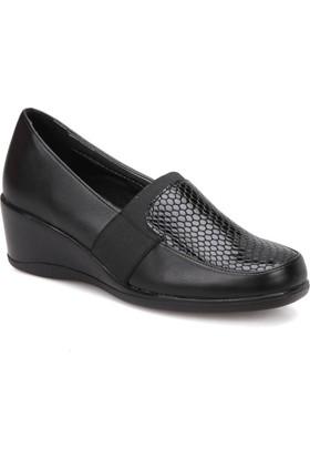 Polaris 72.158058.Z Siyah Kadın Dolgu Topuk Ayakkabı