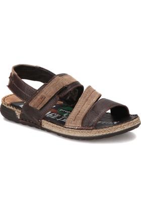 Zen 477217 Kahverengi Erkek Deri Modern Sandalet