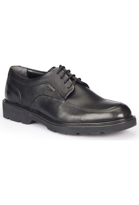 Mercedes Gardner Siyah Erkek Deri Ayakkabı
