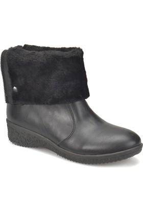 Travel Soft Trv1026 Siyah Kadın Dolgu Topuk Ayakkabı