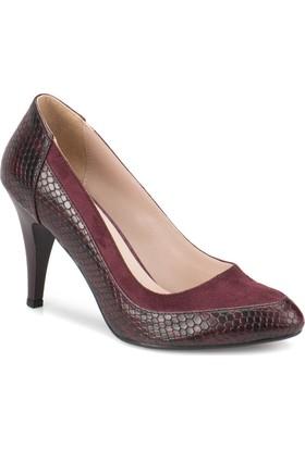 Butigo Z256 Bordo Kadın 379 Ayakkabı