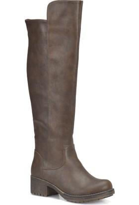 Art Bella Cw17070 Kahverengi Kadın Basic Casual Çizme