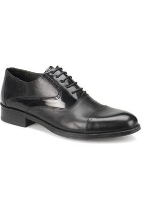 Garamond 1875-1 Siyah Erkek Deri Ayakkabı