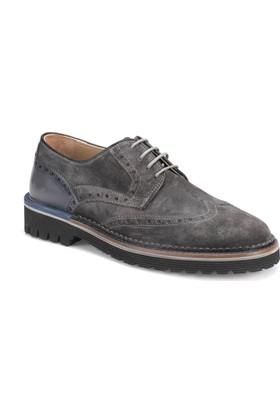 Garamond 1563 Gri Erkek Deri Ayakkabı