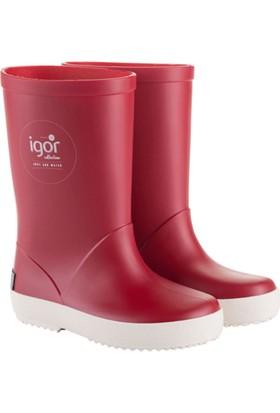 Igor W10107 -F41 Kırmızı Unisex Çocuk Yağmur Çizmesi